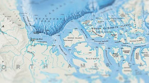 Arctic Ocean Paper Map Slider Shot