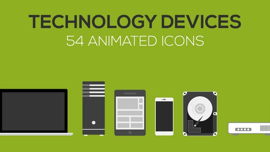 Thumbnail for Technology Devices Animated icons