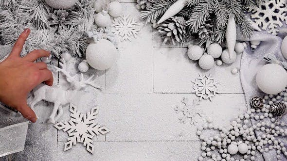 Thumbnail for Christmas Composition in Silver and White