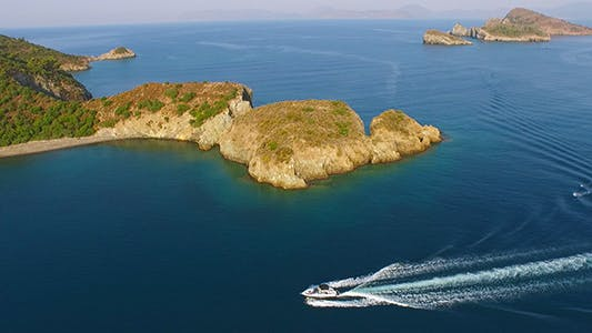 Thumbnail for Aerial View Of Speed Boats