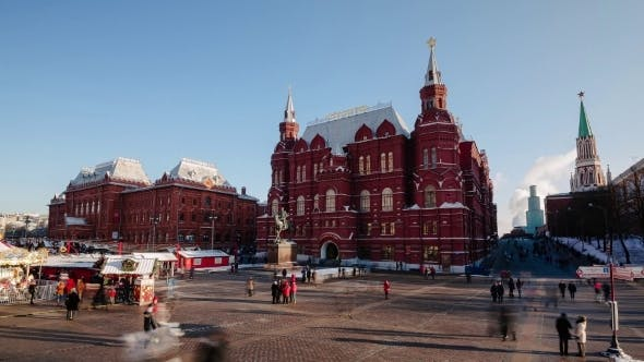 Thumbnail for Historical Museum And Christmas Fair. Moscow.