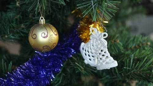 White Christmas Baubles Hanging