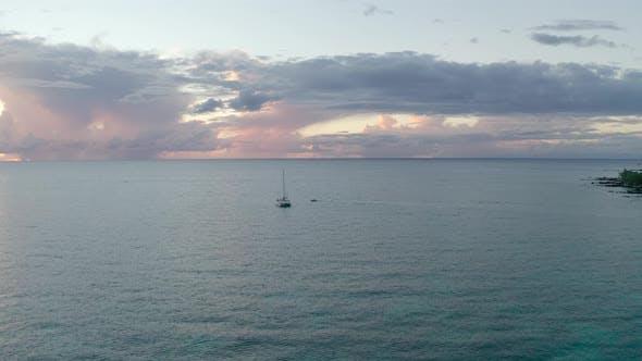 Sunset On Hawaiian Island