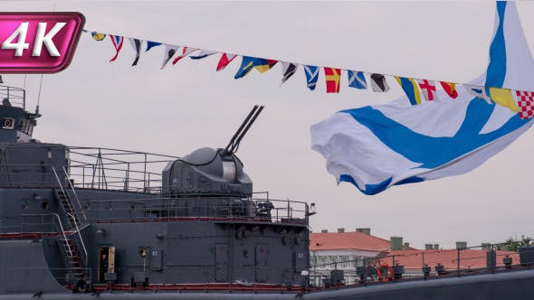 Thumbnail for Cannon and Flag Ship of the Russian Navy