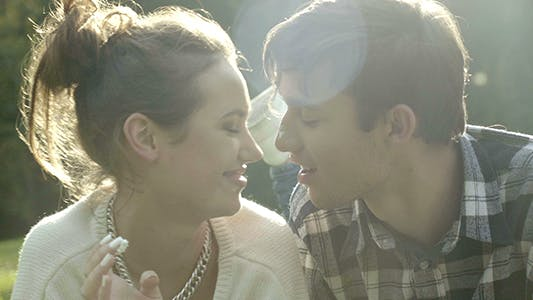 Cover Image for Sweet Couple Kiss
