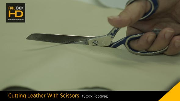 Thumbnail for Cutting Leather With Scissors