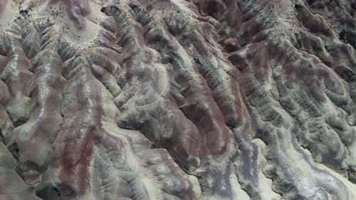 A top down look at a desert canyon