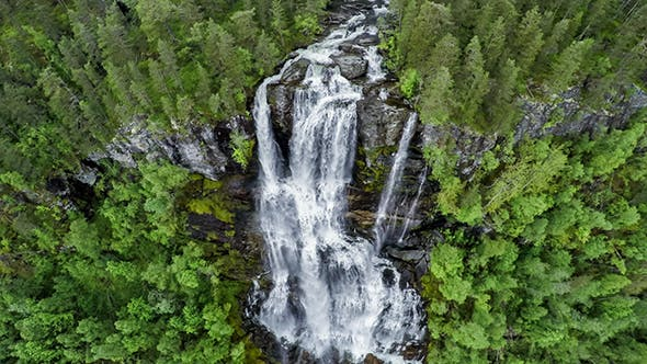 Thumbnail for Tvindefossen Waterfall Norway