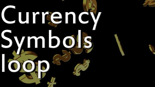 Currency Symbols Spinning