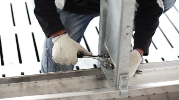 Thumbnail for Workers Build a Metal Structure Wrench