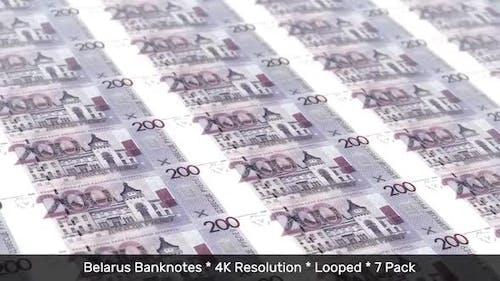 Belarus Banknotes / Belarusian Money / Ruble BR / BYN 7 Pack - 4K
