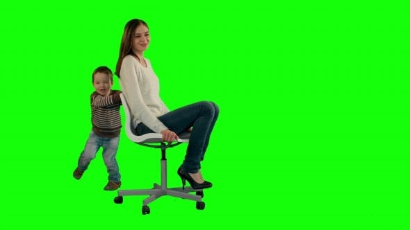 Thumbnail for Lovely Portrait Of a Mother And Son On a Green