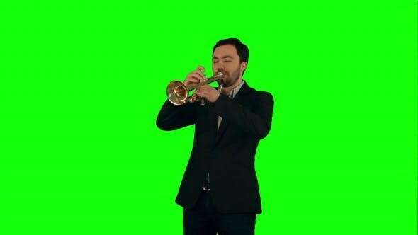 Thumbnail for Portrait Of a Young Man Playing His Trumpet On a