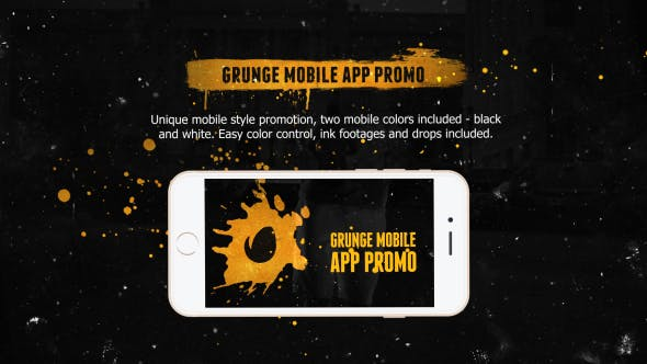 Thumbnail for Grunge Mobile App Promo