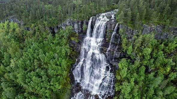 Tvindefossen Waterfall Norway