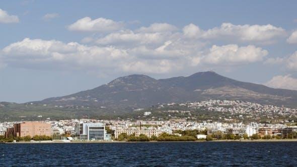 Thumbnail for View Of Coastal City From Sailing Ship