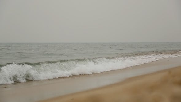 Thumbnail for Cloudy Day On The Empty Sea Ocean Beach Sand