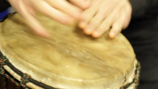 Thumbnail for Playing a Djembe in the Studio