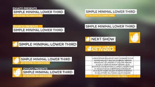 Simple Minimal Lower Third