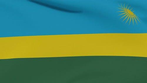 Flag Rwanda Patriotism National Freedom Seamless Loop