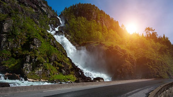 Thumbnail for Latefossen Waterfall Norway