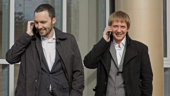 Cover Image for Business People Calling By Mobile Phone Happy