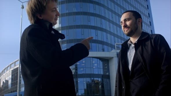 Thumbnail for Two Business Professionals Having a Meeting