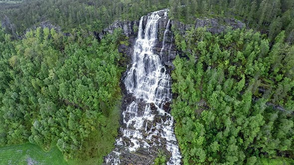 Cover Image for Tvindefossen Waterfall Norway