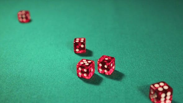 Thumbnail for Rolling Red Dice On A Casino Table