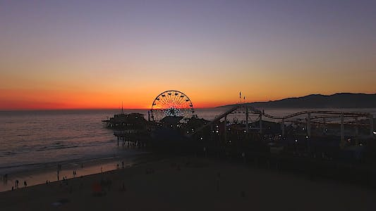 Thumbnail for Santa Monica Peir Sunset Drone