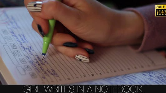 Cover Image for Girl Writes In A Notebook 3