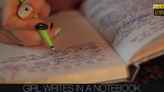 Thumbnail for Girl Writes In A Notebook 5