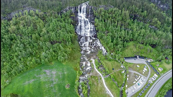Thumbnail for Tvindefossen Waterfall Norway