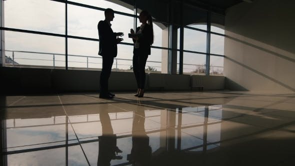 Thumbnail for Business Meeting, Silhouettes Of Men And Women
