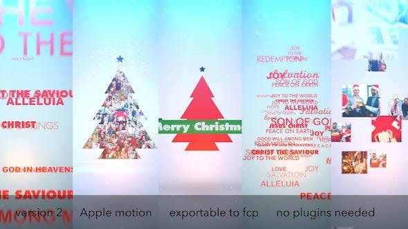 Thumbnail for Typo & Video Christmas Logo Intro