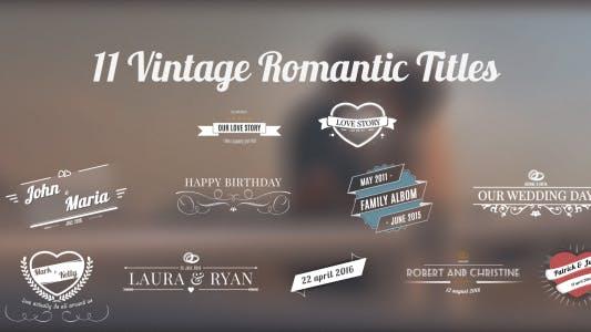 Thumbnail for 11 Vintage Romantic Titles
