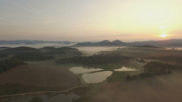 Thumbnail for Aerial Over Morning Mist 4