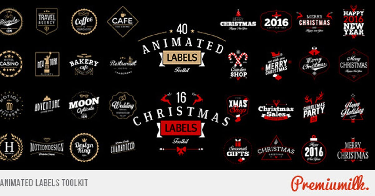 Download Animated Labels Toolkit by Premiumilk