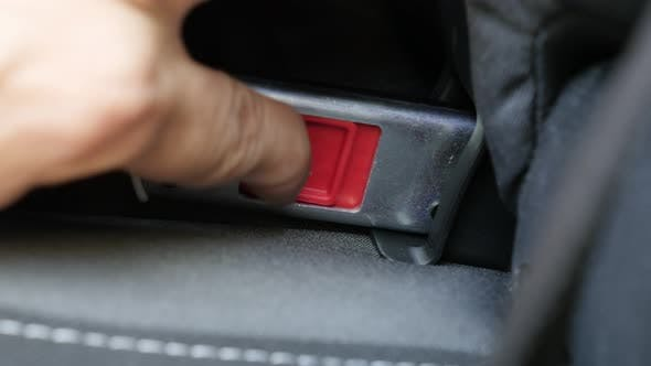 Thumbnail for Unlocking modern safety system for child booster seat  4K footage