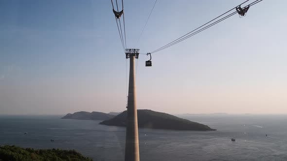 Famous Cable Car in Phu Quoc in Vietnam