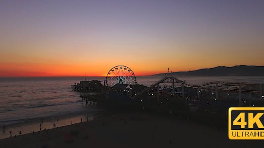 Thumbnail for Santa Monica Peir Sunset Drone