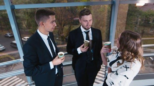 Colleagues On Coffee Break