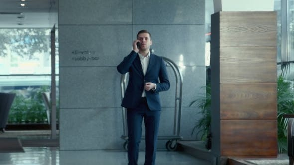 Thumbnail for The Businessman Speaks By Phone