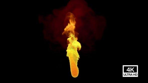Feuerstrom bewegen