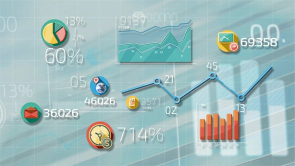 Thumbnail for Flat Animated Icons Business Infographics