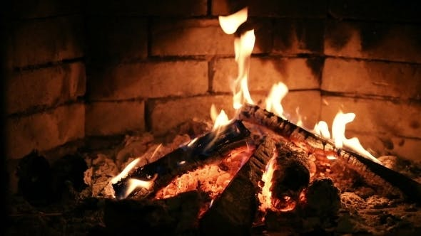 Thumbnail for Fireplace Burning Flame