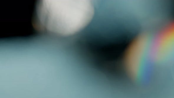 Thumbnail for Multicolored Light Leaks  Footage on Black Background Lens Studio Flare Leak Burst Overlays