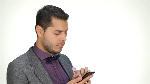 Young Business Man Using Mobile Phone