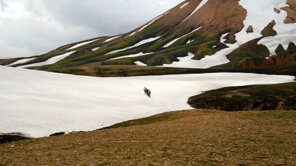 Thumbnail for Hikers In The Mountains Of Iceland