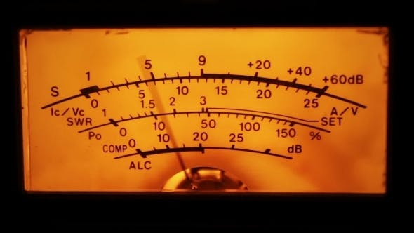 Dial Gauge Of The Transceiver.